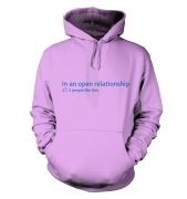 In an open relationship social status hoody