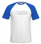 It's Obsolete short-sleeved baseball t-shirt
