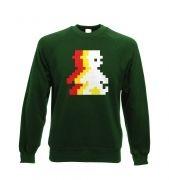 Retro Pixel Guy (trace) crewneck sweatshirt