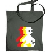 Retro Pixel Guy (trace) tote bag