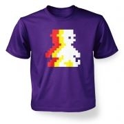 Retro Pixel Guy (trace)  kids t-shirt