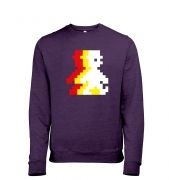 Retro Pixel Guy (trace) men's heather sweatshirt