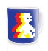 Retro Pixel Guy (trace) ceramic coffee mug