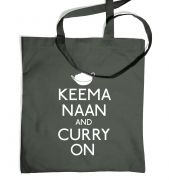 Keema Naan And Curry On tote bag