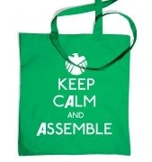 Keep Calm And Assemble tote bag