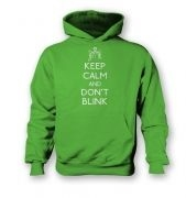 Keep Calm and don't blink  kids hoodie