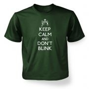 Keep Calm and don't blink kid's t-shirt