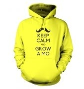 Keep Calm and Grow a Mo hoodie