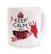 Keep Calm And Kill Zombies ceramic coffee mug