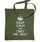 Keep Calm And Obey Mr Grey tote bag