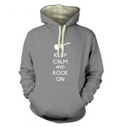 Keep Calm and Rock On hoodie (premium)
