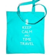 Keep Calm and Time Travel tote bag