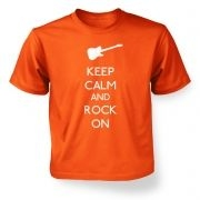 Kids Keep Calm and Rock On T-Shirt