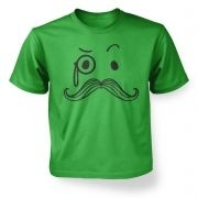 Kid's Monocle and Moustache t-shirt