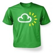 Weather Symbol Cloudy with Sun kids t-shirt