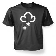 Kids' Weather Symbol Snow t-shirt