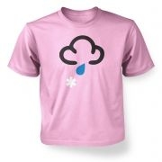 ' Weather Symbol Snow with Rain kids t-shirt