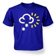 Weather Symbol Snow with Sun kids t-shirt
