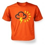 ' Weather Symbol Thunderstorms with Sun kids' t-shirt