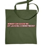 Lacking Commitment tote bag
