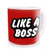 Like a Boss mug - red