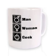 Man Woman Geek mug