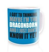 Thinking I'm The Dragonborn ceramic coffee mug