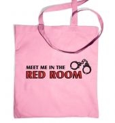 Meet me in the red room tote bag