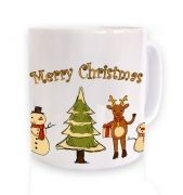 Merry Christmas Winter Friends Christmas mug