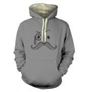 Monocle and moustache premium hoody