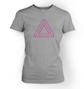 Optical Illusion Triangle womens t-shirt