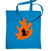 Orange Charmander Silhouette tote bag