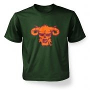 Orange Demons Head  kids t-shirt
