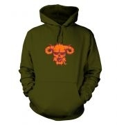 Orange Demons Head hoodie