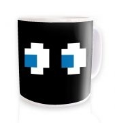 Ghost Eyes ceramic coffee mug