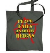 Peace Fails, Anarchy Reigns tote bag