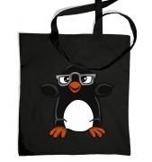Penguin with Glasses bag