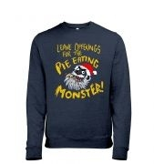 Pie Monster heather sweatshirt