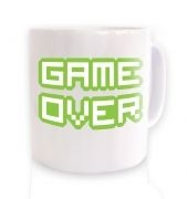 Pixelated Game Over ceramic coffee mug