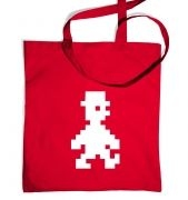 Retro Pixel Guy tote bag