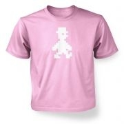 Retro Pixel Guy  kids t-shirt