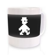 Retro Pixel Guy ceramic coffee mug