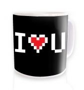 Pixelated I Heart U Mug