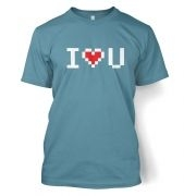 Pixelated I heart u t-shirt
