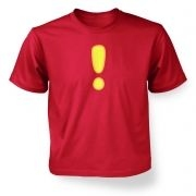 Quest Exclamation Mark Kids Tshirt