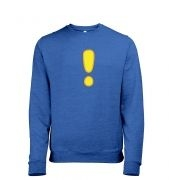 Quest Exclamation Mark Mens Heather Sweatshirt