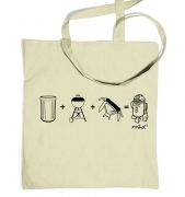 R=2D Squared Equation Tote Bag
