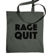 Rage Quit tote bag 