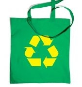 Yellow Recycling Symbol bag