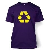 Yellow Recycling Symbol t-shirt